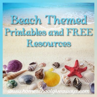 Beach Themed Printables And Free Resources Homeschool