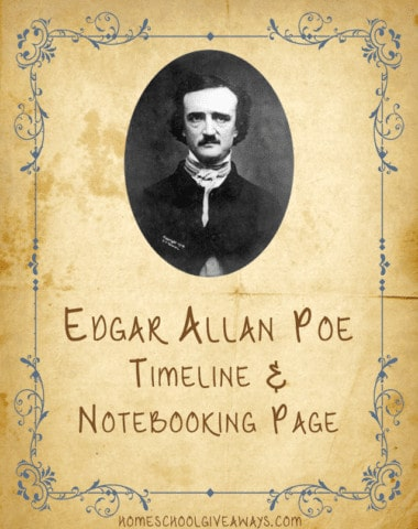 American Authors Poe Notebooking and Timeline Worksheet