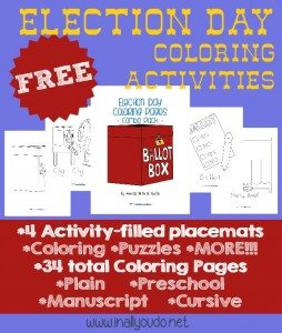 FREE Election Day Coloring Activities