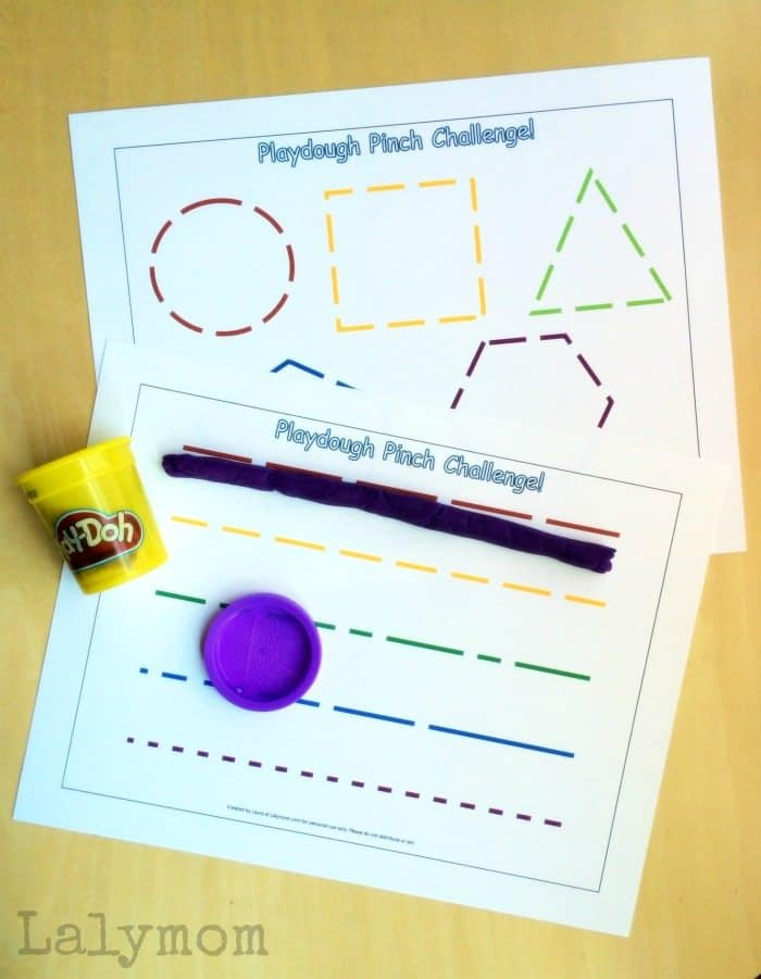 Free-Printable-Fine-Motor-Activities-for-Pinch-Strength-Play-Dough-Pinch-Challenge-on-Lalymom.com_
