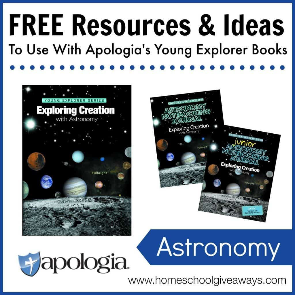 Free Resources and Ideas to Use with Apologia's Young Explorer Books - Astronomy