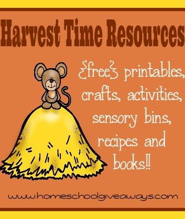 Teach your kids about God's Creation and the Harvest with these great resources. From {free} printables to crafts to recipes and MORE!!!