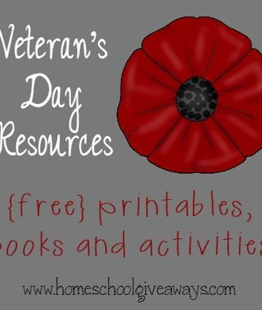 Use these great resources to teach your kids about Veteran's Day this year.