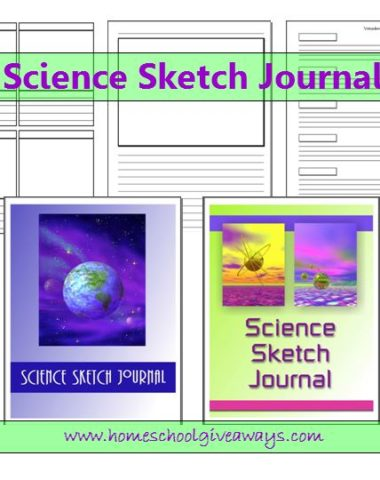 Science Sketch Journal Printable by sproutingtadpoles.com