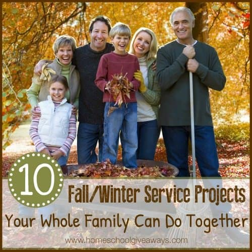 10 FallWinter Service Projects Your Family Can Do Together