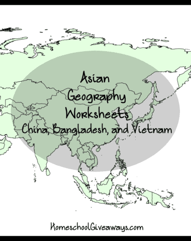 Asian Geography Worksheets