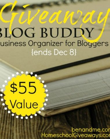 Blog Buddy giveaway