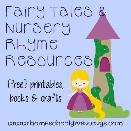 Fairy Tales & Nursery Rhyme Resources: {free} printables, books & crafts!!