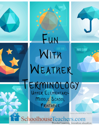FREE Fun with Weather Terminology Printable