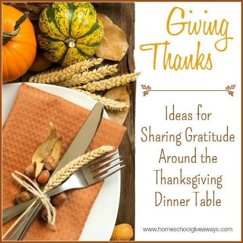 Ideas for Sharing Gratitude Around the Thanksgiving Dinner Table