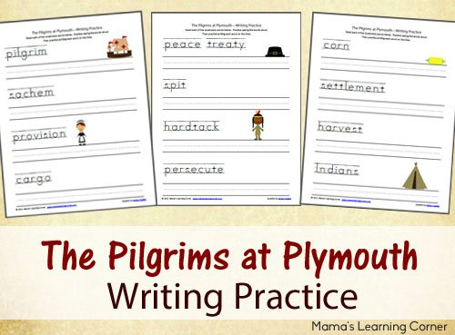 Pilgrims-at-Plymouth-Writing-Practice