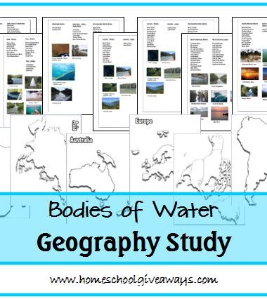 Bodies of Water Geography Study by sproutingtadpoles