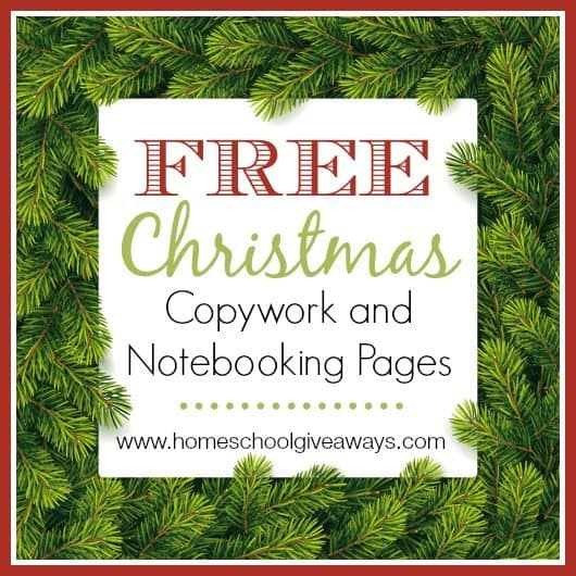 Free Christmas Copywork and Notebooking Pages