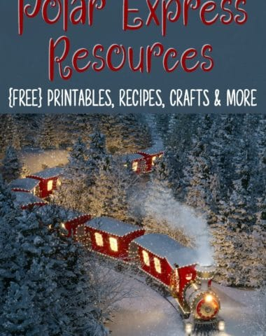 Your kids will have a blast with all these Polar Express printables, crafts, activities and recipes to get them ready to watch the movie!! #Christmas #PolarExpress #Santa #homeschool