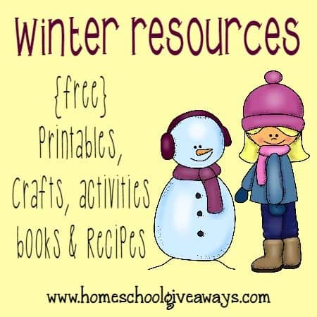 The first official day of Winter is in just a few days! Here are some fun Winter resources ~ including {free} printables, books, activities, crafts and recipes!! :: www.homeschoolgiveaways.com