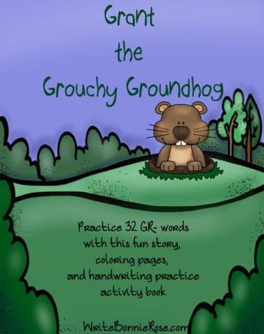 Grant the Grouchy Groundhog Consonant Blends