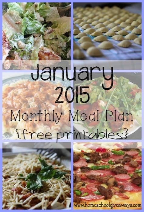 Make meals easy with this Monthly Meal Plan from Homeschool Giveaways!! :: www.homeschoolgiveaways.com