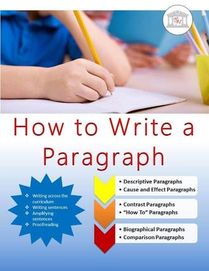 how to write a paragraph freebie front cover
