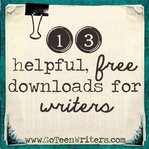13 FREE Downloads for Teen Writers www.homeschoolgiveaways.com Find a list of helpful resources for teen writers!