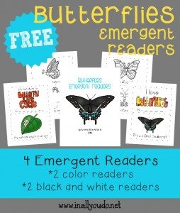 FREE Butterflies Emergent Readers