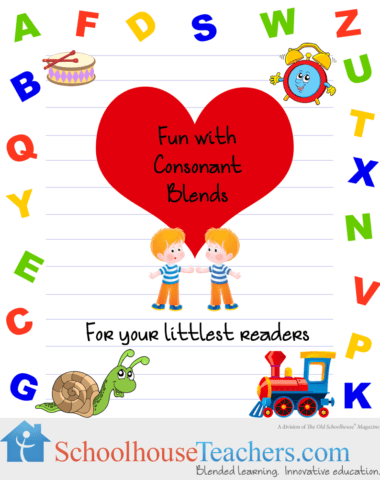 Free Homeschool Printable-Fun Consonant Blends