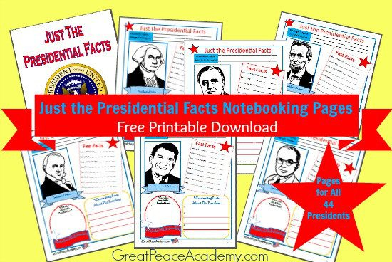 Just-the-Presidential-Facts-Free-Printable