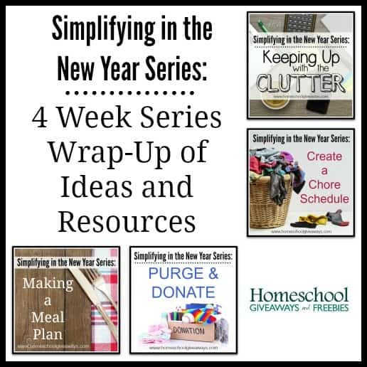 Simplifying in the New Year Wrap-Up