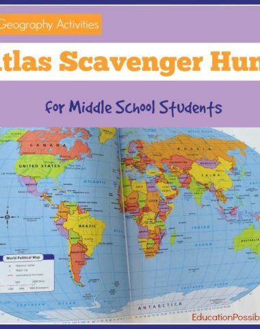 Middle School Geography: FREE Scavenger Hunt Printable www.homeschoolgiveaways.com Grab this FREE printable scavenger hunt and have some Geography fun with your homeschoolers!