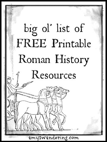 FREE Resource List for Studying Roman History www.homeschoolgiveaways.com Learn about Roman History as a family with these FREE resources!