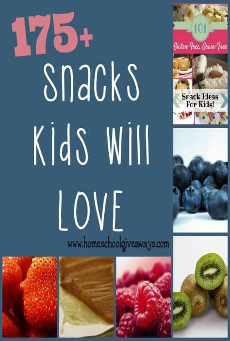 "Snacks are the hardest ""meal"" for me to diversify. Here are 175+ Healthy Snacks options kids (and parents) will love! :: www.homeschoolgiveaways.com"