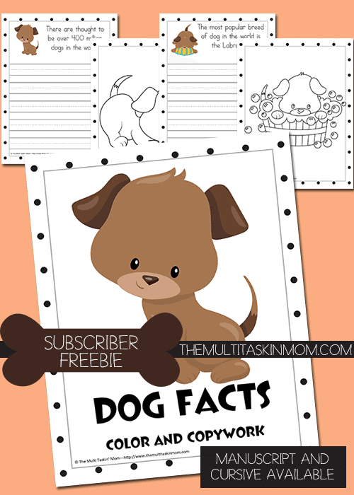 Dog-Facts-Color-and-Copywork-FREEBIE