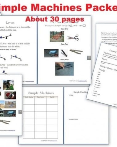 Simple Machines ~ FREE Printables www.homeschoolgiveaways.com Use these free printables to learn about simple machines!