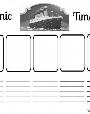 FREE Titanic Timeline Printable www.homeschoolgiveaways.com Use this free printable PLUS resource list to study an important topic in history ~ the Titanic!