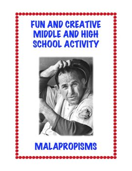 https://www.teacherspayteachers.com/Product/Malapropisms-Fun-ELA-High-School-Printable-301893 www.homeschoolgiveaways.com Grab this free lesson and learn all about malapropisms!