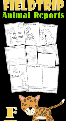 Animal Reports for Your Field Trip to the Zoo www.homeschoolgiveaways.com Great FREE printable animal reports for ages pre-k to 6th grade field trips!