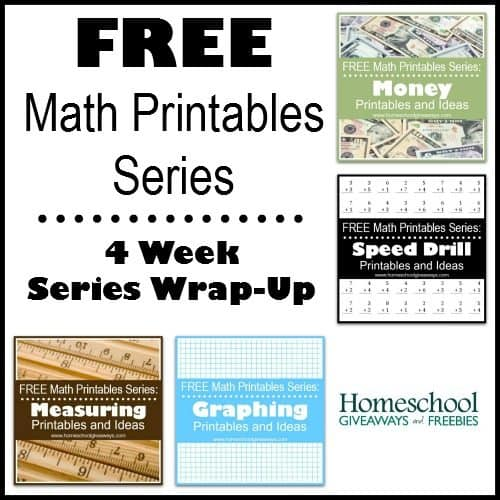 Math Printables Wrap-Up