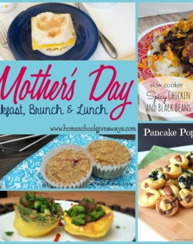 Mother's Day is a wonderful day to honor the Moms in your life. Here are some super simple recipes to help the day easier!! :: www.homeschoolgiveaways.com