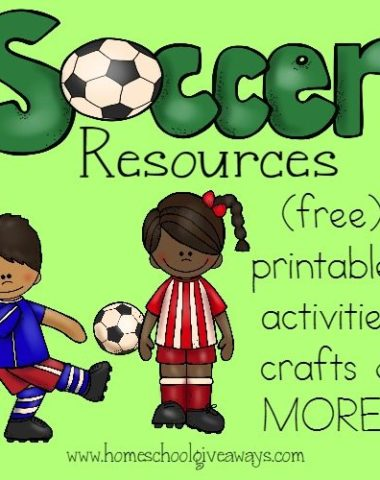 Love Soccer? Check out these fun Soccer-themed printables, crafts, activities, recipes & MORE!! :: www.homeschoolgiveaways.com