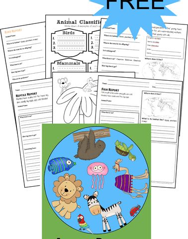 FREE Animal Report Forms www.homechoolgiveawyas.com Learn about animals and their classes as a family with these printables!