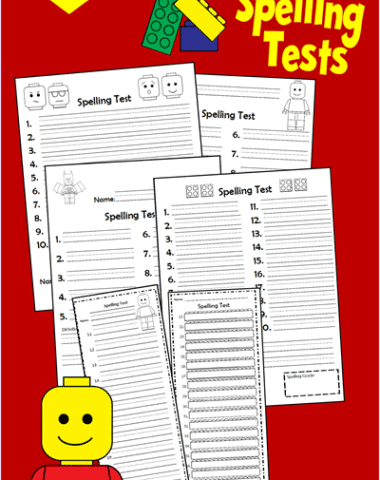 FREE 'Brick' Spelling Test Printables www.homeschoolgiveaways.com Download these free lego printables for extra spelling fun!