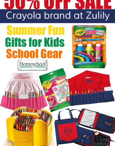 Zulily Sale on Crayola Brand Products