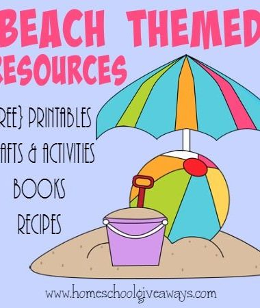Don't waste those summer days away! Check out these great Beach themed resources and make the most of those sunny days! :: www.homeschoolgiveaways.com