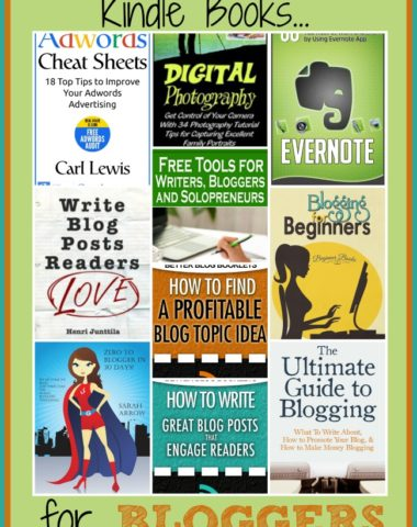 10 Free and Cheap Kindle Books for Bloggers | homeschoolgiveaways.com