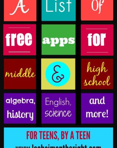 FREE Apps for Middle School and High School www.homeschoolgiveaways.com Use this great list of apps to find FREE options for homeschooling your middle and high school kids!