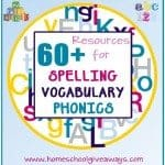 60+ Resources for Spelling, Vocabulary and Phonics