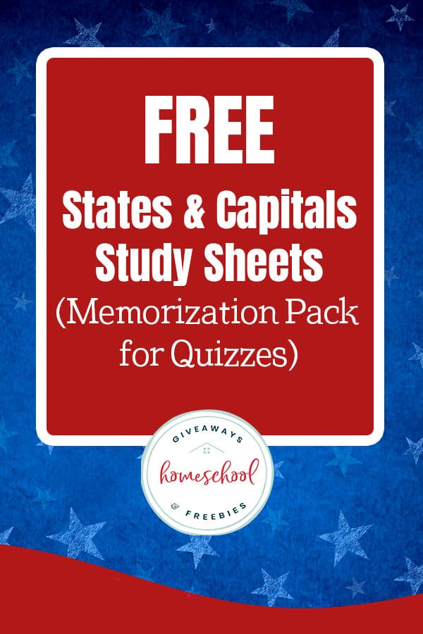 patriotic background with text overlay free states and capitals study sheets and quiz pack