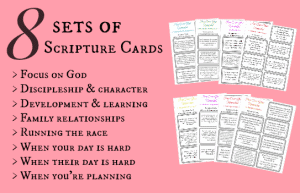FREE Downloadable Scripture Cards www.homeschoolgiveaways.com Download 8 sets of scripture cards to help you pray over your homeschool!