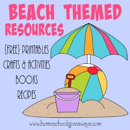 Are you going to the Beach this summer? Why not have some learning fun first! Check out these great Beach themed resources! :: homeschoolgiveaways.com