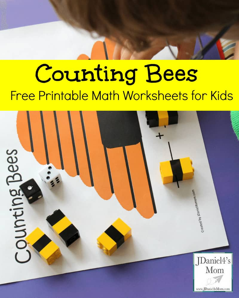Free-Printable-Math-Worksheets-for-Kids-Counting-Bees