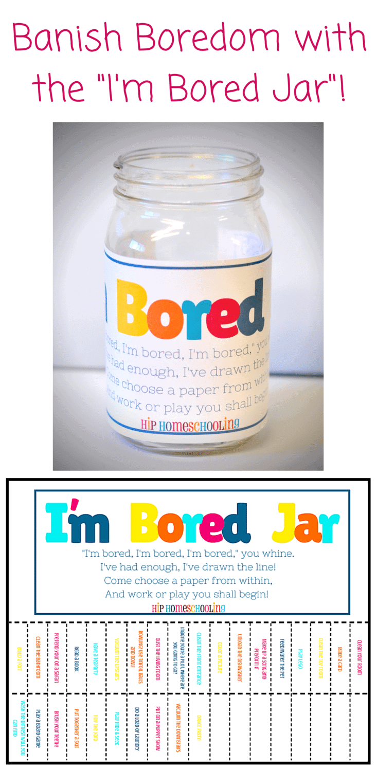 I M Bored Jar Free Printable Homeschool Giveaways